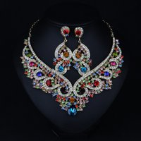asian access - Decorative geometric gem exaggerated necklace female chain clavicle short suit European and American jewelry hypoallergenic new dress access