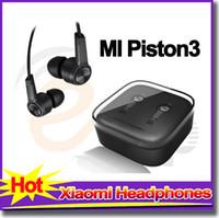 Wholesale Hot sale Xiaomi headphones Piston earphones noise cancelling headset earbud with Mic S Mi Hongmi for iPhone samsung headphone