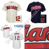 Wholesale Kids Indians Baseball Jersey Francisco Lindor Jersey Youth Embroidery logo Cool Base Authentic Baseball Jerseys size S XL