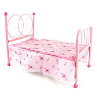 Wholesale Pink Doll House Bedroom Room Miniature Furniture Kids Child Play Toy K5BO