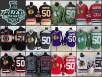 chicago #50 corey crawford Practice CCM Throwback 2015 Final Stanley Cup Season ICE Hockey jerseys Wholesale Price 100% Polyester Jersey