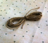 Wholesale DIY accessories accessories by hand The packing line Photo hemp rope Natural color mm strands of hemp