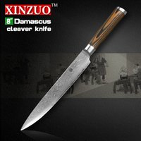 Wholesale XINZUO quot inch Sashimi knife layer Damascus kitchen knife Japanese VG10 cleaver knife Color wood handle