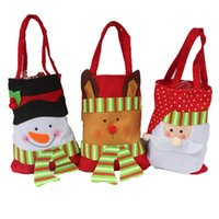bags candy wrap - 2015 Christmas Gift Candy Bags Santa Merry Christmas Decoration Candy Sweet Apple Gift Bags Gift Wrap santa sack non woven drawstring gift