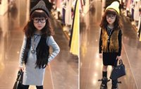 Wholesale Kids Girl Tassels WaistCoat Solid Color Sleeveless Outwear Vest Coat New Fashion Casual Child Clothing