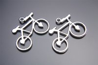 bicycle charm necklace - 100pcs mm Heart Bike bicycle Pendant Beads Components Charms Plated Silver DIY Jewelry Craft Necklace infinity Fit Bracelets Earring