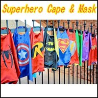 Wholesale Superhero cape CAPE MASK L70 W70CM Super Hero Costume for Children Halloween Party Costumes for Kids Children s Costume
