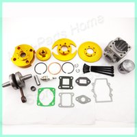 atv track kit - 3 grooves golden Big Bore kit mm Cylinder Piston Set For cc cc Pocket Bikes Mini ATV Quad Motocross order lt no track