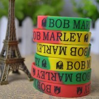 Wholesale 2015 New Trendy Charms bob marley ONE PIECE KEY anime cosplay Wristband Silicone Bracelet sport wrist band