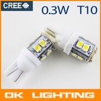 Wholesale 2PCS W5W T10 W LED SMD K V Car Side Wedge White Light Reading Bulbs Parking