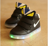 animal print boots - 2016 New Kids Led Lighted Shoes Boys Girls Luminous Athletic Shoes Children Casual Sneakers Baby Boy Girl Boots Child Flat Shoes Colors