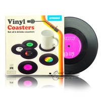 vinyl record - Hot sale Spinning Retro Vinyl CD Record Drinks Coasters Vinyl Coaster Cup Mat