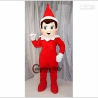 elf on the shelf - Custom made creepy elf pinocchio on the shelf Mascot Costume thermolite Halloween Costumes Chirstmas Party Adult Size Fancy Dress