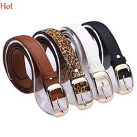 Wholesale Fashion Womens Leather Waistbelt Metal Clip Needle Belts Pants Jeans Shorts Ladies Strap Leopard White Black Fashion Accessories SV012754
