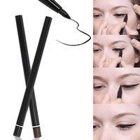 auto cosmetics - Summer Style Waterproof Auto Twist Up Makeup Eyeliner Eyebrow Pencil Cosmetic Liquid Eye Liner Eyeliner Pen Black Brown A1