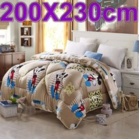 autumn quilt patterns - Super soft flannel Autumn and winter mickey mouse pattern quilt comfort feather quilts winter blanket bedding set