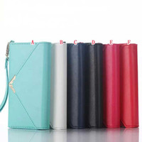 apple clutch bag - Envelope Wallet Leather Case For Iphone I7 S plus Iphone7 Fold Rope Photo Frame Money ID Card Pouch Purse TPU Clutch Fashion Bag Cover