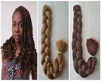 Wholesale 100 kanekalon hair braid inch g ultra braid hair kinds color available