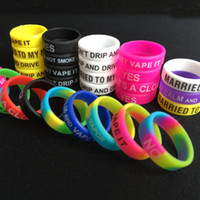 al por mayor rubber band bracelets-Pulsera personalizada del silicón, venda modificada para requisitos particulares del silicón, venda barata del vapor de la venda de goma, anillo de la venda del vape, anillo 1000pcs DHL del silicón de la venda del vape