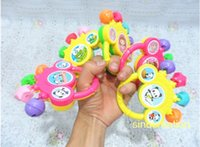 Wholesale Baby Hand Rattle With Small Bells Baby Musical Instrument Toys Plastic Early Development Toy