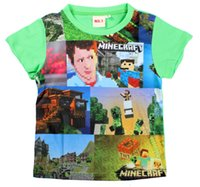 Cheap 6-12y new minecraft t shirts summer large baby boy clothes christmas gift kids clothes babies clothes kids christmas t-shirts