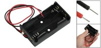 """Cheap GPS Unique Sale! New Black Plastic 21cm  8.3"""" 2 x 1.5V AA Battery Lead Wired Cell Case Box"""
