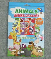 Wholesale Animals Farm sticker album reusable notebook play games kids Learning Educational toy christmas gifts