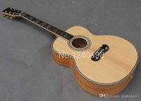 Wholesale Deluxe high quality guitar inch jumbo acoustic guitar flame maple neck abalone inlay guitars