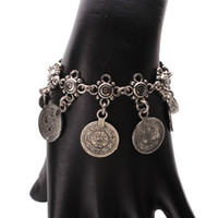 antique turkish jewelry - Bohemian Boho Gypsy Antique Silver Turkish Carved Coin Bracelet Jewelry Ethnic Tribal Festival Jewelry