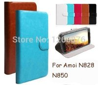 amoi cell phone - PU Leather Wallet Flip Cover Case For Amoi N828 N850 inch Cell Phones Bag Gift Touch Pen