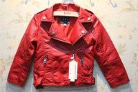 Wholesale Fashion korean Big boys leisure jacket leather with velvet thickened zipper children Zipper long sleeve coats kids outwear Ya0330