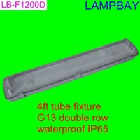 Wholesale pieces T8 T10 LED tube ceiling fixture ft double row waterproof IP65 with G13 holder and accessory easy install fitting