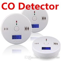 Wholesale CO Carbon Monoxide Tester Alarm Warning Sensor Detector Gas Fire Poisoning Detectors LCD Display Security Surveillance Home Safety Alarms DH