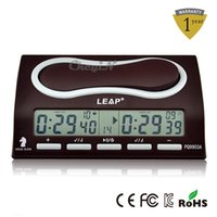 Wholesale LEAP Electronic Digital Chess Clock Chess Timer Clock For I Go Xiangqi Etc Board Games Competition Color Red QZ001R order lt no track