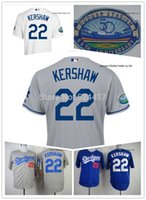los angeles - 2014 New Los Angeles Clayton Kershaw th Anniversary Authentic onfield Cool Base Baseball Jersey days deliver