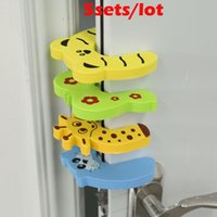 Wholesale 5sets New hot selling Pack Baby Safety Animal Door Stop Finger Pinch Guard