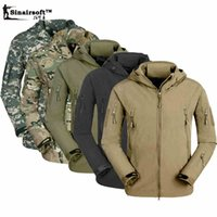 Wholesale Men Military Tactical Jackets Outdoor Waterproof Army Sports Camouflage Hunting Hiking Fleece Lining Coat softshell jacket men