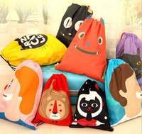 Wholesale Cartoon travel storage bags Outdoor waterproof beach swimming shoes underwear bag organizer classification receive bag string backpack