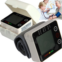auto sphygmomanometer - Accurate Fully Auto Digital Sphygmomanometer Wrist blood pressure monitor BP minitor heart beat meters LCD display screen