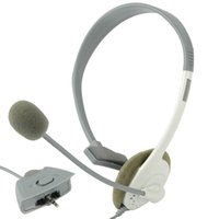 Wholesale New White Slim Headset Headphone microphone for XBOX360 XBOX T0293 W0 SYSR