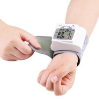 Wholesale LCD Automatic Digital Portable Wrist Blood Pressure Monitor Heart Beat Meter Sphygmomanometer