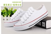 Wholesale Fashion Unisex Women Men Sneakers Lace Up High Low Style Classic Casual Canvas Shoes