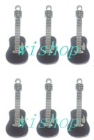 Wholesale New Black Guitar Metal Charm pendants Jewelry Making Party Gifts KP102