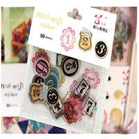 alphanumeric phone - DIY Transparent Decorative Stickers Alphanumeric Animal Sticker Album Diary Phone Home Decoration