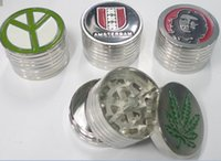 mixed lot - 5pcs cheaper smoking grinder tobacco grinder herb grinder with screen mix desings