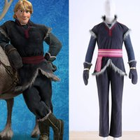 Wholesale 2015 Cosplay Kristoff Outfit Movie Costume Cosplay Handmade For Men Party Costumes Halloween Party Cloth