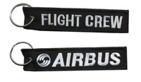 Wholesale Skydive Pilot Aviation Embroidered Key Ring Keyring Airbus Flight Crew x cm