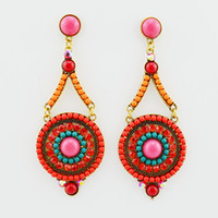 Vintage Turquoise Earrings Studs Women's Fashion and Costume