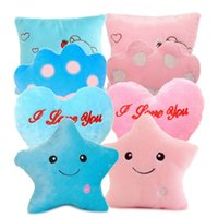 Wholesale Dream Colorful Glow LED Luminous Light Pillow Cushion Cosy Soft Relax Gift CA1T