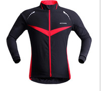 Wholesale WOSAWE Winter Autumn Windproof Cycling jacket Long Sleeve Cycling Jersey Clothing Wear Reflective Running Bike Jackets